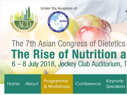 The 7th Asian Congress of Dietetics 2018